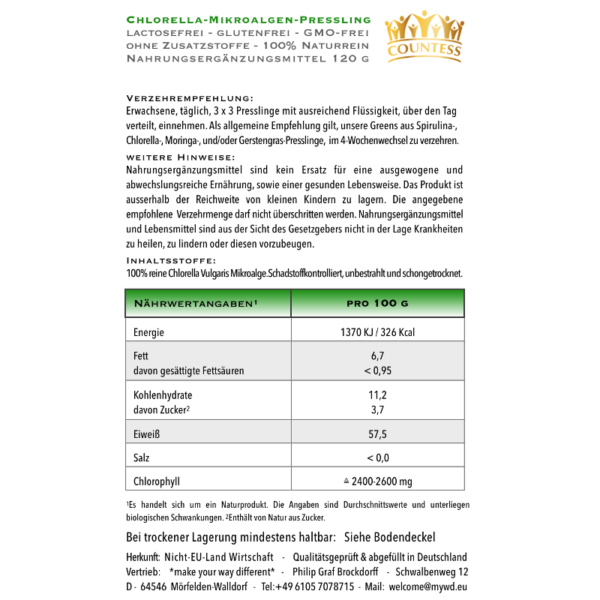 Chlorella 120Stk Information